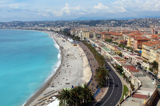 Beach Nice French Riviera France