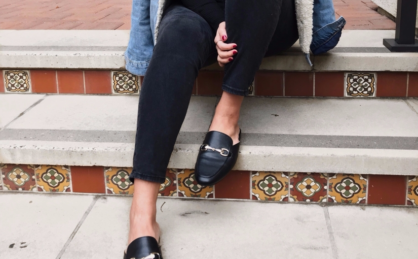 Denim and Slides for a Casual Day