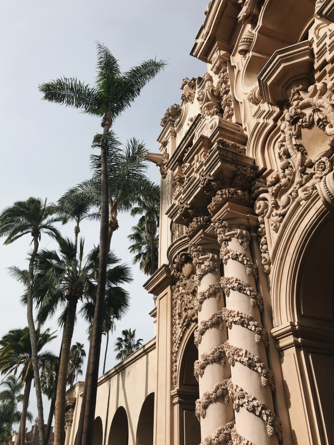 Balboa Park San Diego California Palms Grapes