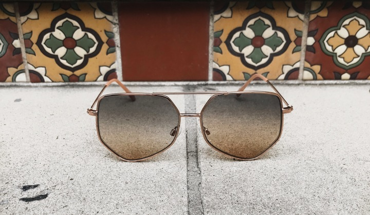 Superstar Geometric Aviator Sunglasses San Jose California Tiles Stairs