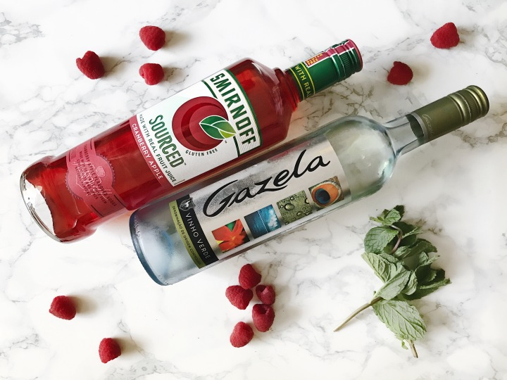 Gazelatini-gazela vinho verde and cranberry apple Smirnoff vodka cocktail