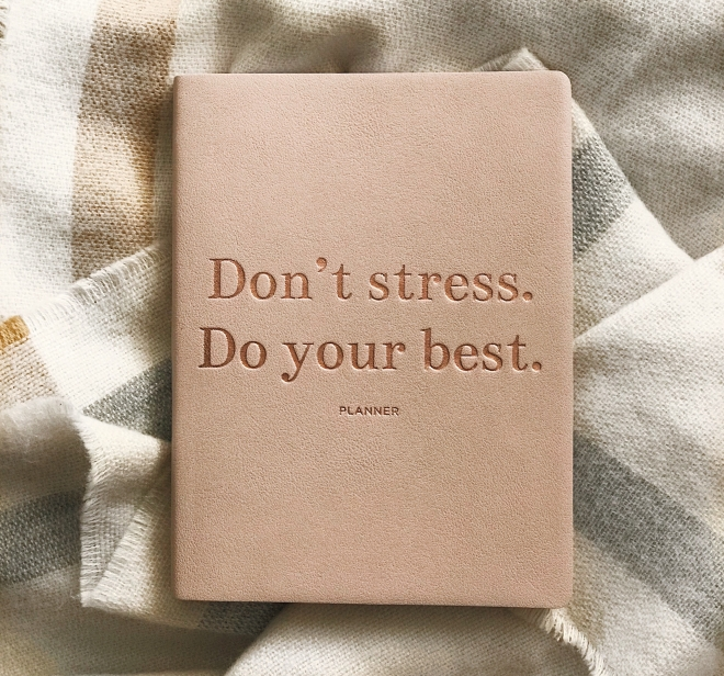 dont stress do your best planner stradivarius