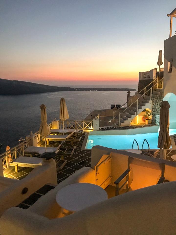 Sunset Oia Mare Villas Greece