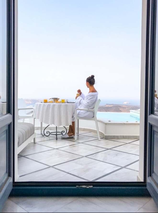 Breakfast Thira Greece Anteliz Suites